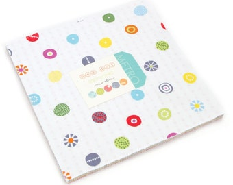 "Hey Dot Moda Layer Cake 42 -  10"" precut quilt squares by Zen Chic"