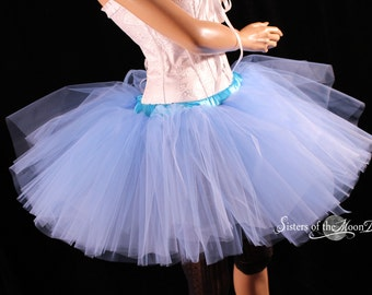 French Blue tutu skirt puffy three layer petticoat dance costume roller derby race petticoat wedding - You Choose Size - Sisters of the Moon