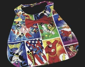 Mod Retro Formal Boy Bib with bowtie, DC Comics, Modern, Superhero, Special Occasion
