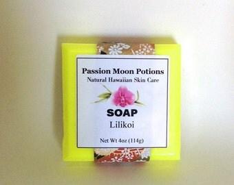 Lilikoi Soap. Passion Fruit. Tropical Vegan Soap.
