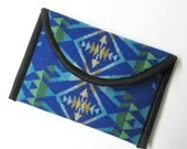 iPad Mini Cover Sleeve Ipad Case Sapphire Blue Wool from Pendleton Oregon Padded Native American Print