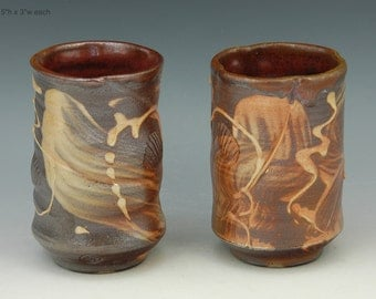 Tumbler yunomi 17-18 Wood fired cups FREE SHIPPING