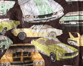 vintage quilt blanket old car classic automobile auto transportation corvette ford usa pillowcases bedding room decor brown boys