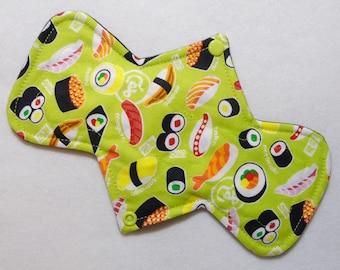 """9.25"""" (23.5 cm) Regular / Moderate Absorbency - Reusable Cloth Menstrual Pad (9MC) - Sushi"""