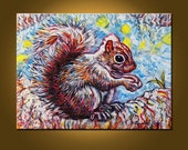 Magical Squirrel -- 18 x 24 inch Original Oil Painting by Elizabeth Graf on Etsy -- Art Painting, Art & Collectibles