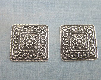 NEW 2 Silver Medallion Findings 3821