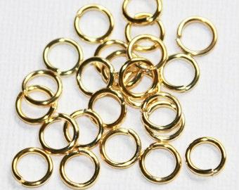 Bulk 500 pcs of gold finished  jumpring 8mm round 16 gauge