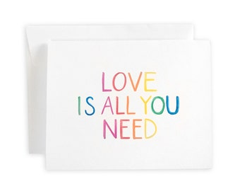 All You Need Is Love Notecard Set