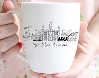 New Orleans, Louisiana Skyline Mug