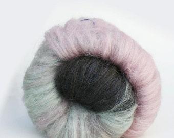 Spinning Fiber Art Batt, 2 oz, Merino, Silk, and Sparkle