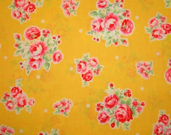 SALE Yellow and Pink Rose Bouquet 31129 by Lecien Fabrics Flower Sugar Clearance
