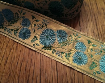 Fancy Turquoise and Gold  Craft Trim
