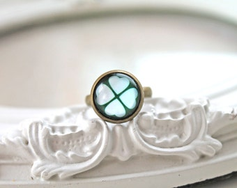 St Patricks day green clover shamrock ring geekery Ireland