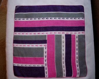 Vintage Graphic Handkerchief -  Hanky Hankie