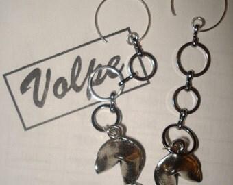 Handmade fortune cookie earrings