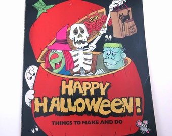 Happy Halloween Things to Make and Do Vintage 1980s Children's Halloween Activity Book