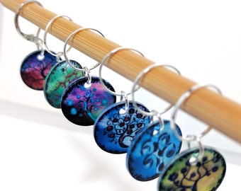 Rainbow Trees Stitchmarkers, Knitting stitchmarkers, Crochet stitchmarkers, Snag-free stitchmarkers, Knitting Markers, Progress Keepers