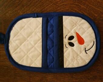 Snowman oven mitt,  pot holder