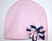 Pink Corker Hat Infant-Adult Szs Sleep Cap Removable Ribbons Chemo Hat Kids Chemo Hat FREE SHIP USA