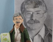 Arnold Lobel- Children's Author- Miniature Art- Writer Doll- Unique Collectible