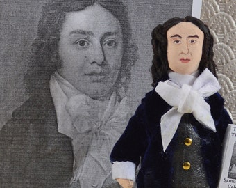 Samuel Taylor Coleridge English Poet Writer Doll Miniature Size Classic Literature