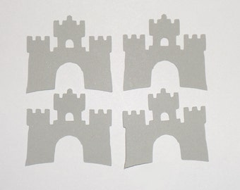 Grey Castle Cardstock Confetti - Princess Party Confetti - Birthday Party Confetti - Birthday Decorations Confetti - Castle Die Cuts