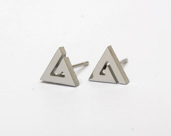 Triangle Stainless Steel Earring Post Finding (EE432)