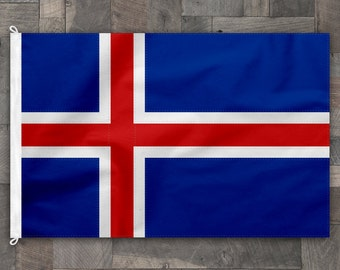 100% Cotton, Stitched Design, Flag of Iceland, Made in USA