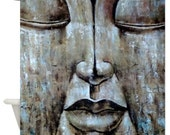 Carved Buddha Head Shower Curtain