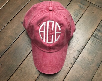 Embroidered Monogrammed Hats - Monogrammed Hat - Initials - Women's