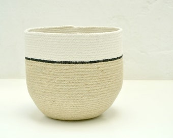 Jute and cotton pot: choose a size