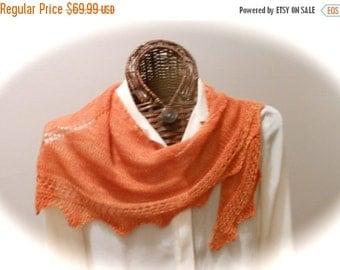 VALENTINE Luxury Cashmere/Silk Scarf in Pumpkin