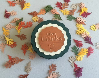 Embossed Give Thanks Place Settings. Tags. Set of 12. Thanksgiving.
