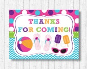 Pool Party Favor Tags / P...