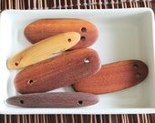 Australian Recycled Timber 2 Hole Pendants x 5