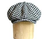 RESERVED -  Newsboy Cap in Vintage Wool in Green Harris Tweed