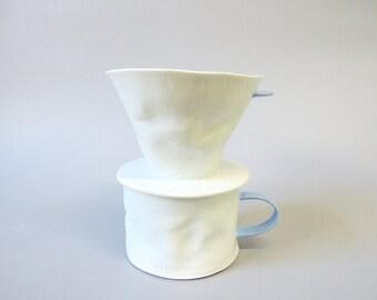 porcelain coffee pour over set