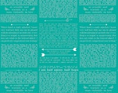 25% OFF Ardently Austen by Amanda Herring Teal Text