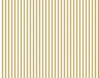 20% OFF Wonderland Stripe Gold - 1/2 Yard