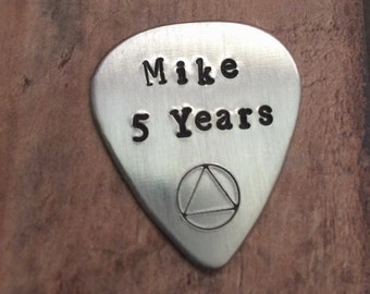 Recovery Guitar Pick, Personalized Guitar Pick, Sobriety Gift, AA Guitar Pick, Sober Guitar Pick, Just for Today, One Day at a Time, 12 Step