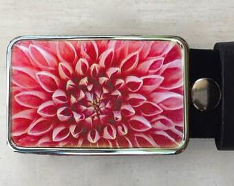 Flower Belt Buckle.  Womens belt buckle.   Gift for gardener.  Gift for teacher.