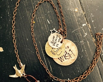 Gypsy ~Fleetwood Mac necklace ~ she is dancing away from you now she was just a wish ~ Stevie nicks ~ favorite lyrics ~