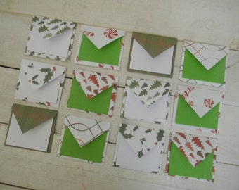 Mini envelopes Christmas * Note Cards * Note Card Set * Gift Set * Mini cards * Love Cards