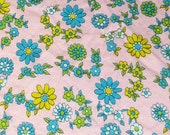 RESERVED FOR TINKYANDROSE vintage 50s cotton print fabric, featuring super cute floral print, 4 yards
