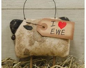 I Love Ewe Sheep Ornament
