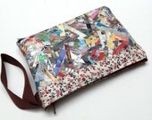 SALE PAST STYLE Upcycled Confetti Wristlet