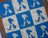 PDF Pattern SIDEKICK 2.0 Puppy Dog Applique Quilt Pattern from Quilts by Elena Instructions for 5 quilt sizes included