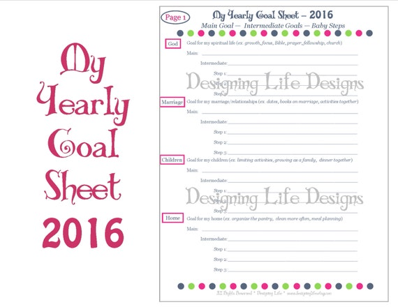 Printables Printable Goal Setting Worksheet printable goal setting worksheet for students intrepidpath 2016 yearly worksheets by designinglife