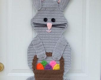 CROCHET PATTERN - CV139 Easter Bunny Door Hanging - PDF Download
