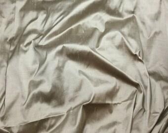 SHIMMER BEIGE Silk DUPIONI Fabric - fat 1/4